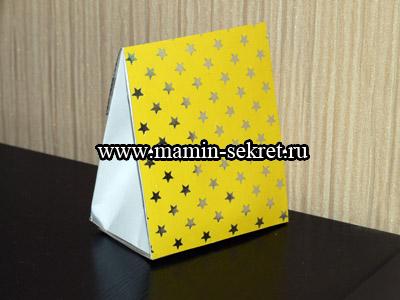 желтая упаковка для подарка