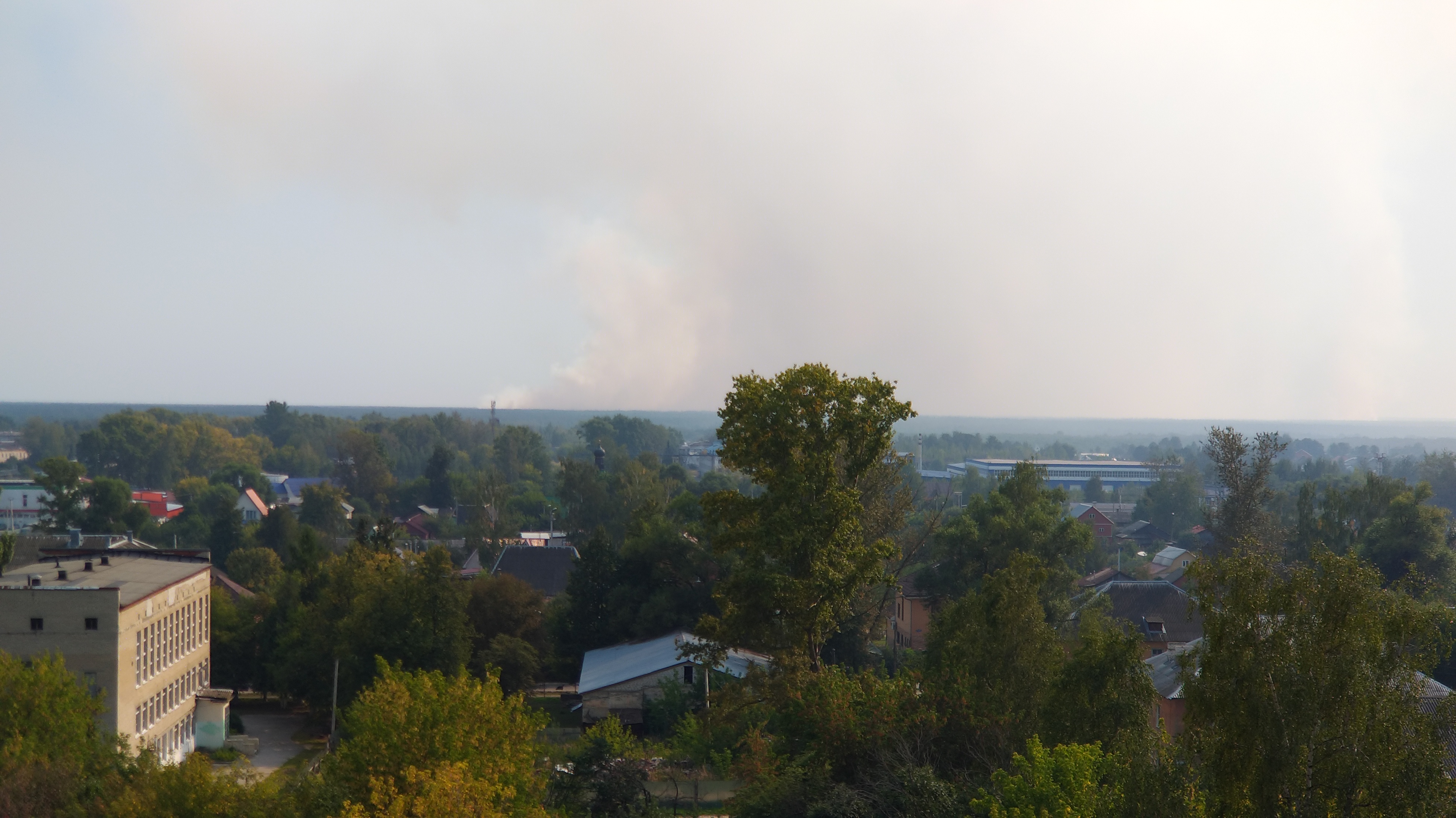 Пожар в Петушинском районе
