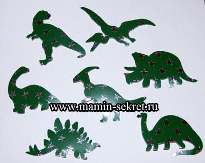 фигурки динозавров из картона
