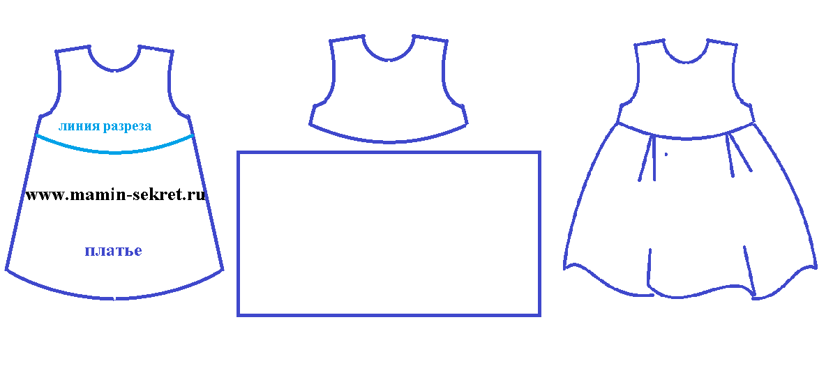простая выкройка платья своими руками
