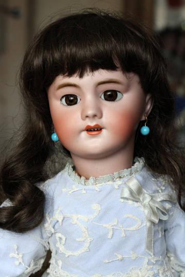 Антикварная ходячая французская кукла DEP