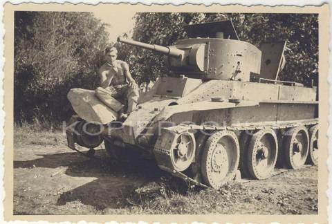 БТ-5 - лёгкий колесно-гусеничный танк Y3Bri